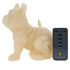 Patricia Altschul Frenchie Dog Flameless Candle by Luminara