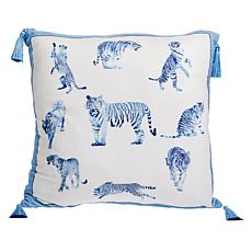 """Patricia Altschul Luxe Chinoiserie Tiger 20"""" x 20"""" Pillow"""