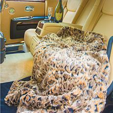 """Patricia Altschul Luxe Faux Fur Oversized 70"""" x 50"""" Throw"""