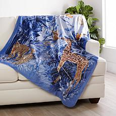 Patricia Altschul Luxe Midnight Jungle Throw