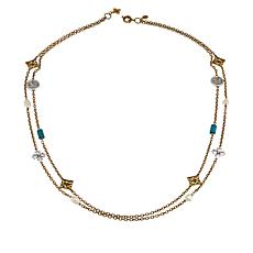 "Patricia Nash 34"" Mixed Station Double-Strand Necklace"