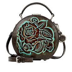 Patricia Nash Allier Leather Hat Box Crossbody Bag