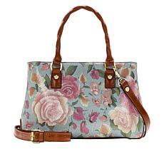 Patricia Nash Angela Leather Crackled Rose Garden Satchel
