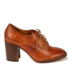 Patricia Nash Anna Leather Block-Heeled Oxford
