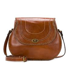 Patricia Nash Arezzo Leather Saddle Bag