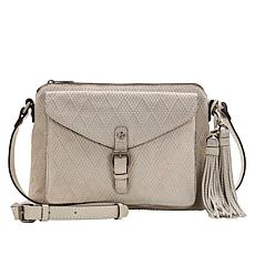 Patricia Nash Avellino Diamond Textured Leather Crossbody Bag