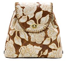 Patricia Nash Bellissimi Embroidered Leather Convertible Backpack
