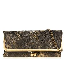 Patricia Nash Bosa Tooled Leather Frame Clutch