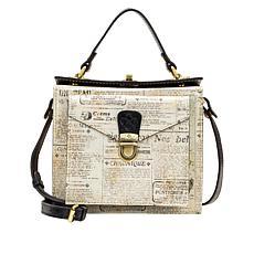 Patricia Nash Carletti Newspaper-Printed Leather Crossbody