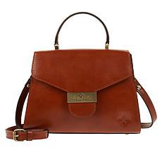 Patricia Nash Casotta Leather Top Handle Satchel