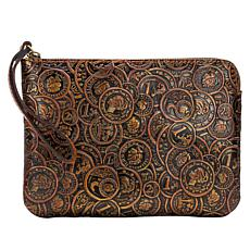 Patricia Nash Cassini Coin-Tooled Leather Wristlet