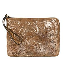 Patricia Nash Cassini Glitter Metallic Leather Wristlet