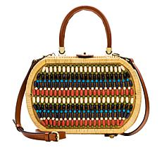 Patricia Nash Cipressa Beaded Wicker Satchel