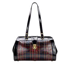 Patricia Nash Corte Foiled Tartan Leather Frame Bag