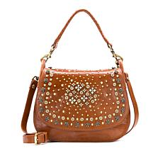 Patricia Nash Discovery Avezzano Leather Studded Satchel