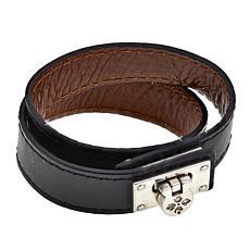 Patricia Nash Double Wrap Leather Cuff Bracelet