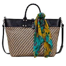 Patricia Nash Emilion Woven Tote with Purse Scarf