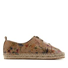 Patricia Nash Eva Printed Leather Flat Espadrille