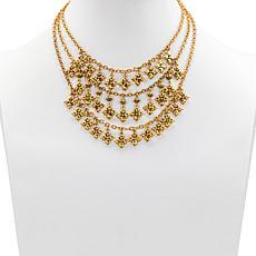 Patricia Nash Floret Charm Multi-Strand Floret Necklace