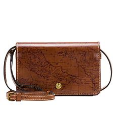 Patricia Nash Francia Leather Map Crossbody Organizer