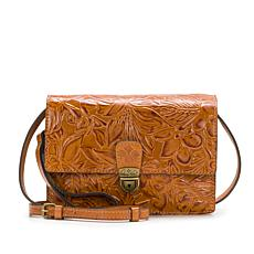 Patricia Nash Lanza Tooled Leather Crossbody Bag