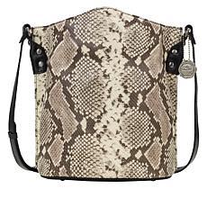 Patricia Nash Lavello Leather Crossbody Bucket Bag