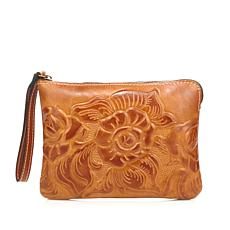 Patricia Nash Leather Cassini Wristlet
