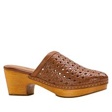 Patricia Nash Lorena Wood Bottom Leather Clog