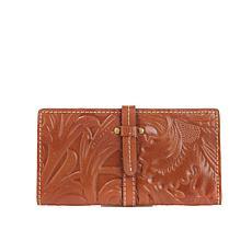 Patricia Nash Nevola Tooled Leather Checkbook Case