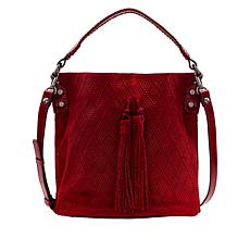 Patricia Nash Octavia Textured Leather Bucket Bag