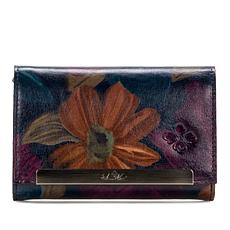Patricia Nash Oliveri Leather Tri-Fold Wallet with RFID Protection