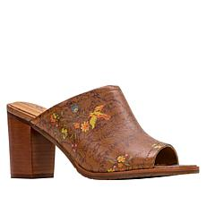 Patricia Nash Ottavia Block Heel Leather Clog