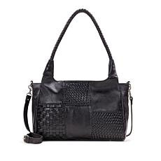 Patricia Nash Ponza Three-Way Weave Leather Satchel