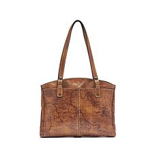 Patricia Nash Poppy Leather Top-Zip Tote