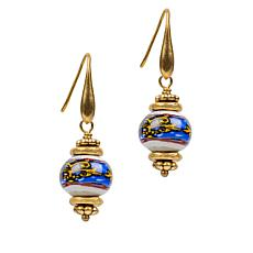 Patricia Nash Positano Print Ceramic Bead Drop Earrings