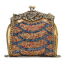 Patricia Nash Rosaria Beaded Metallic Leather Evening Bag