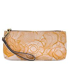 Patricia Nash St. Croce Tooled Leather Wristlet