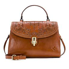 Patricia Nash Stintino Laser-Cut Leather Satchel
