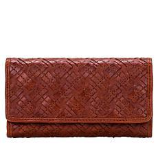 Patricia Nash Terresa Braided Stitch Leather Wallet