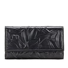 Patricia Nash Terresa Floral Deboss Leather Signature Wallet with RFID