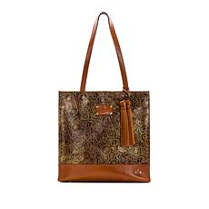 Patricia Nash Toscano Coin-Tooled Leather Tote