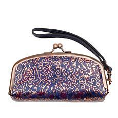 Patricia Nash Trezza Leather Frame Top Cosmetic Case
