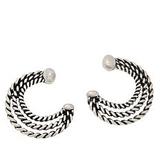 Patricia Nash Twisted Rope Triple Hoop Earrings