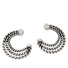 Patricia Nash Twisted Rope Triple Hoop Earrings