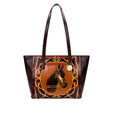 Patricia Nash Varsi Print Leather Tote