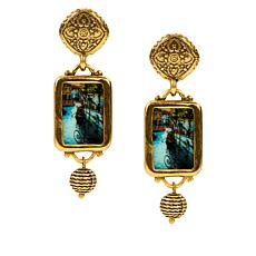 Patricia Nash Venice Postcard Filigree Drop Earrings