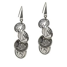 Patricia Nash World Coin Dangle Drop Earrings