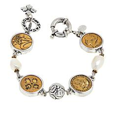 Patricia Nash World Coin Simulated Pearl Station Bracelet