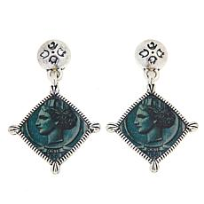 Patricia Nash World Stamp Floret Drop Earrings