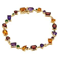 Paul Deasy Gem Gold-Plated Amethyst, Citrine and Garnet Bracelet